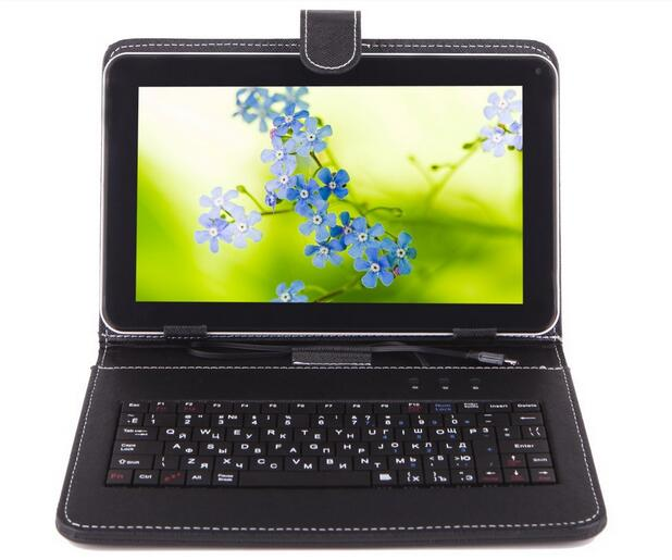 English language Mini KEYBOARD CASE for 7inch android Tablet Micro USB keyboard with PU leather Stand case Free Shipping(China (Mainland))