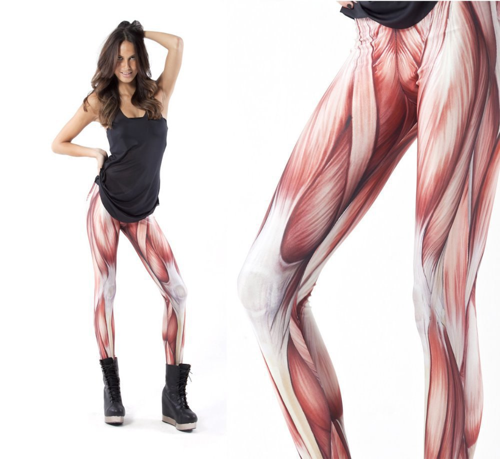 HotNew Fashion Black Milk Muscles Women Legging Novelty Sexy Girl's Tights Leg Pants Cheap Price ClothingHigh Quality(China (Mainland))