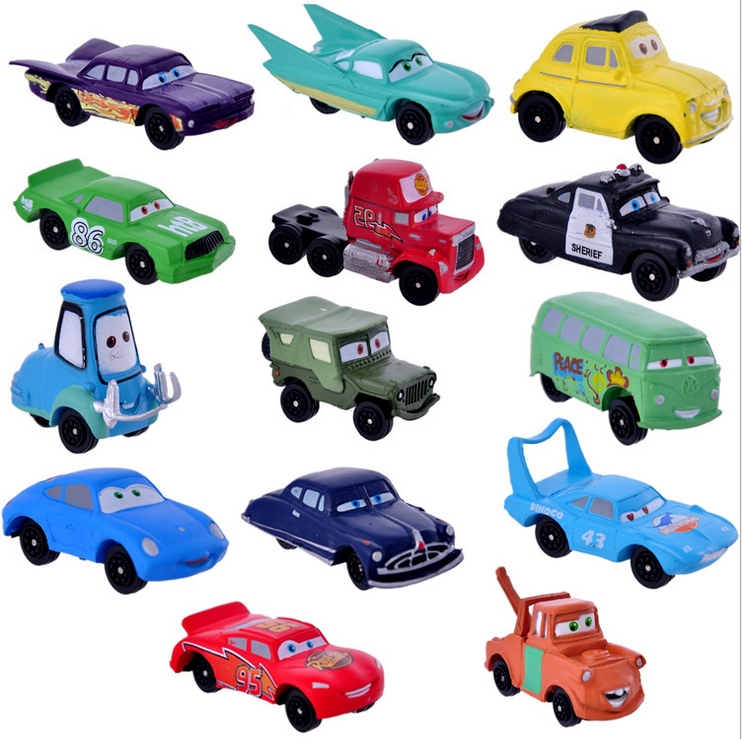 14 Pcs High Quality PVC Pixar Car Figures Toy Cars Toys Evade Glue Full Set for Gift Car Furnishing Articles-Toys30(China (Mainland))