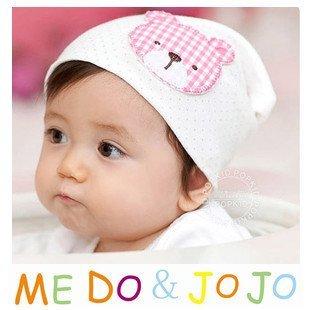10PCS/lot wholesale baby hat Cute plaid bear baby cap Cotton Beanie Infant Hat kids children Hats Skullies & Beanies