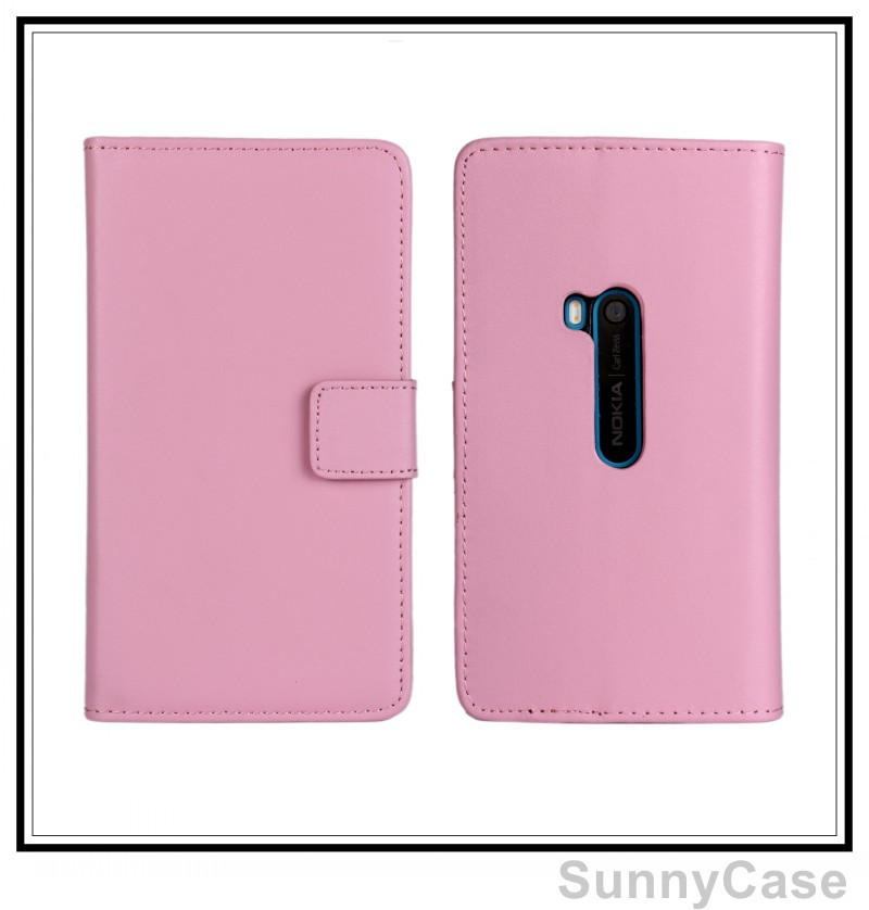 Genuine Leather Stand Wallet Cover Case Nokia Lumia 920 - Sunny Cellphone store
