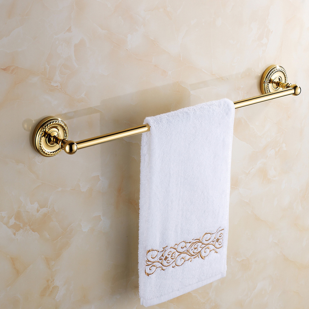 All copper single shot gold gilded towel rack single towel bar towel rack Continental Hardware bath accessories(China (Mainland))