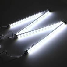 4pcs LED Kitchen Lighting Under Cabinet Counter Energy Saving Hard Rigid Strip Bar Light Kit White Warm White 110V-240V(China (Mainland))