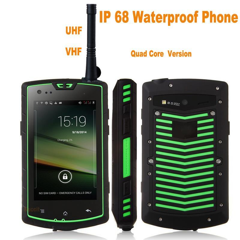 Unlocked UHF VHF Walkie talkie Radio Ham radio two way radio Android rugged Waterproof mobile 3G handheld Long Range Transceiver(China (Mainland))