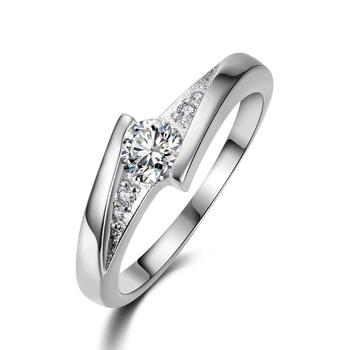 Классический Белый Позолоченный Создан Алмаз Моды Свадьба & Обручальное Кольцо Ювелирные Изделия Для Женщин Оптовая R504