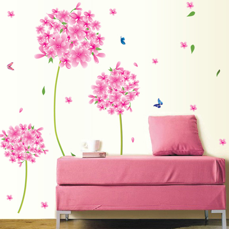 Comprar rosa diente de le n flor amor for Vinilos pared aliexpress