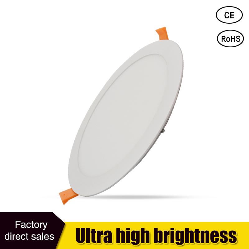 LED Panel Light 110v 120v 220v 3W 4W 6W 9W 12W 15W 18W Led light Recessed Downlight Ultra thin Lamp 2835 SMD Lighting(China (Mainland))