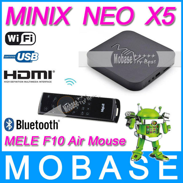 [ Free MELE F10 Air Mouse ] MINIX NEO X5 RK3066 Dual Core Cortex A9 Google Smart Android TV Box Wifi Bluetooth USB RJ45 HDMI