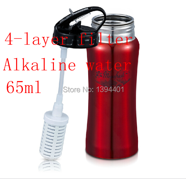 Portable Dog Cat Portable Carbon Filter Water Bottle: 2015 Water Filter Alkaline Water For Household Water