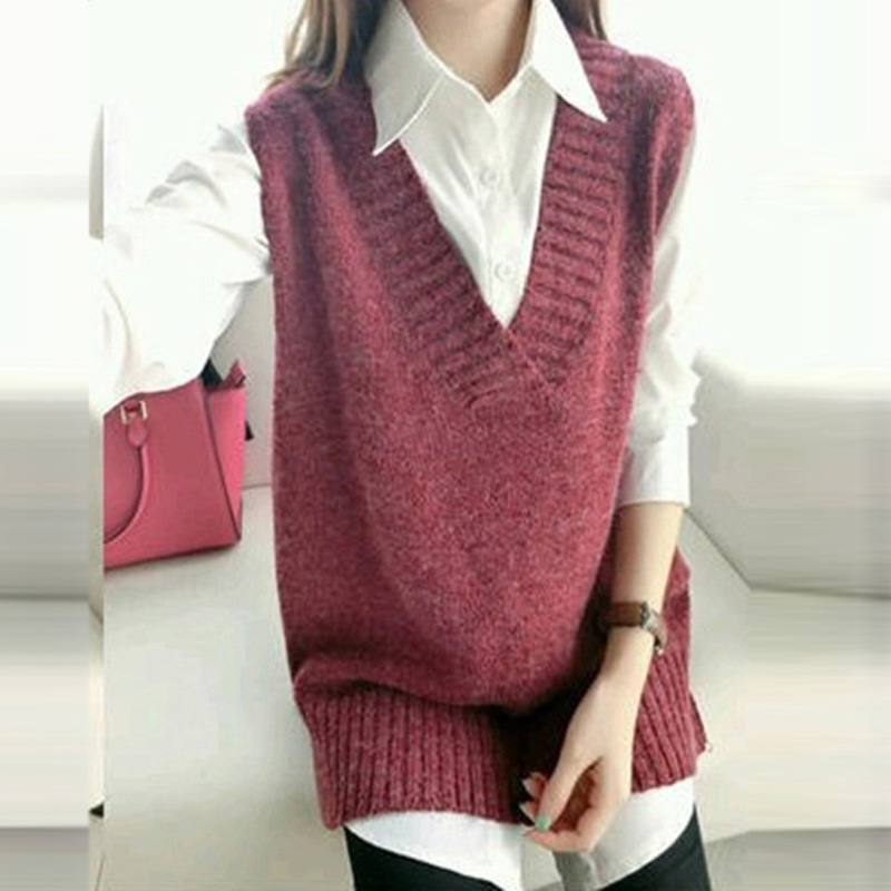 Women'S V Neck Sweater Vest - Cashmere Sweater England