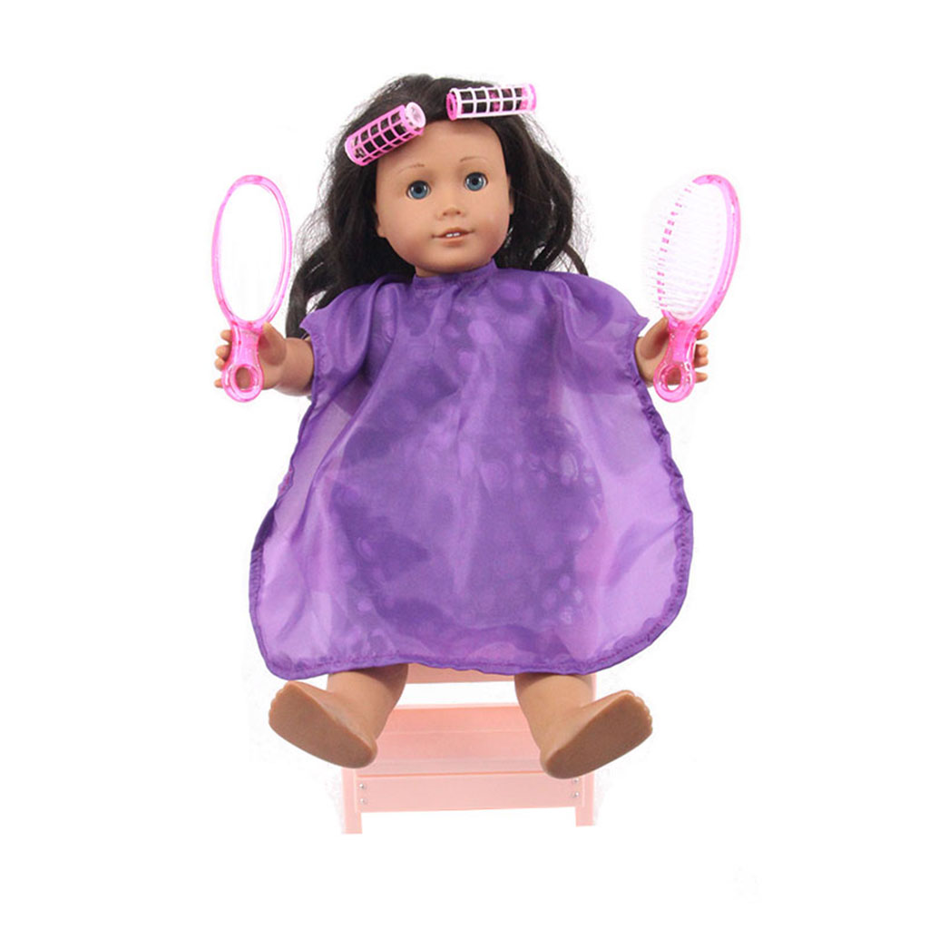 18 inch Doll Hair Brush Mirror Curler Set Make Up & Beauty Accessories Babies Girls Birthday Christmas Gifts