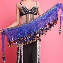 Buy 8 colors long belly dance waist chain belly waist chain belly dance waist belt festival dancer accessories for $19.90 in AliExpress store