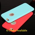 Esamday Candy color case for iphone6 6S 6Plus 6sPlus 7 7Plus 5 5s SE 7Soft TPU