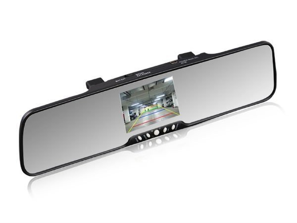 "3.5"" TFT Color monitor mirror with bluetooth, car backup camera system"