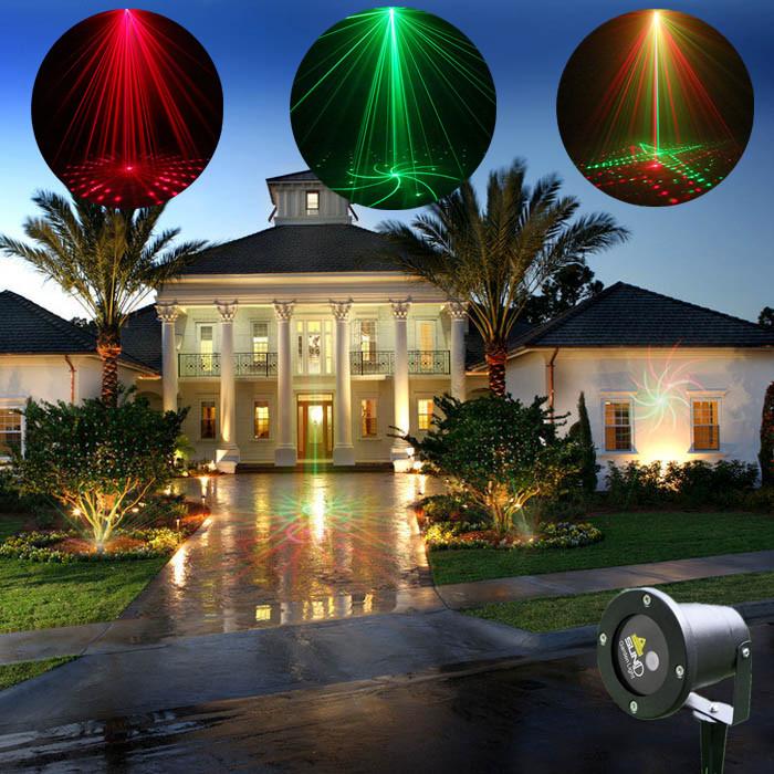 High Quality New Mini Outdoor Indoor 8 Pattern GR Laser Project Landscape Lig