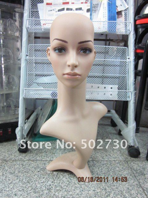 Wholesale Top selling Female Human hair mannequin head display no include the hair 4pcs/ctn IMG-5192(China (Mainland))