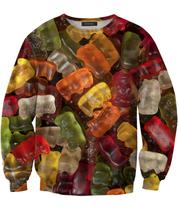 Woman Man 3d Fashion Candy print Sweatshirts Gummy Bears Sweatshirt spring O-Neck Moletons Jumper Pullover sweats Sexy tops pull(China (Mainland))