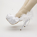 2016 White Spring Dress Shoes Satin Wedding Shoes Round Toe Tassel Crystal Bridal Shoes Popular Bridal