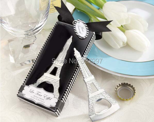 Fashion Eiffel tower stainless steel beer wine opener creative wedding arrangement bottle openers favors gifts guest 2 - Professional holiday store