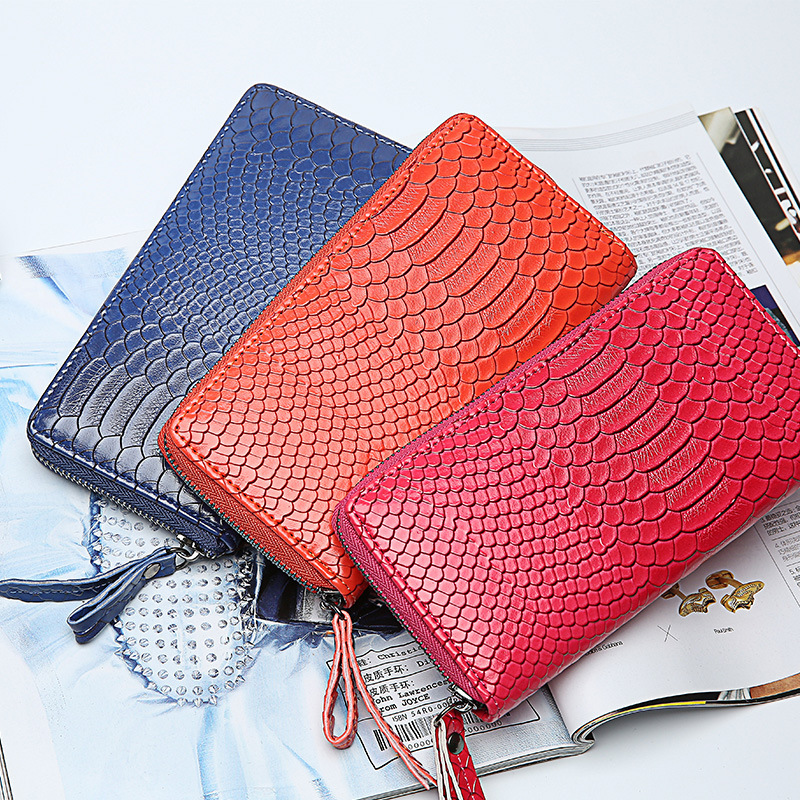 2015 top sale Factory direct new snakeskin pattern clutch purse wallets Best Selling high-end handbags zipper bag wholesale(China (Mainland))