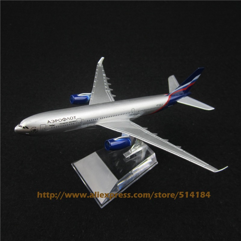 HOT! Free Shipping! 16cm Metal Air Aeroflot Russian Airlines Airplane Model Airbus 330 A330 Airways Plane Model w Stand Aircarft(China (Mainland))