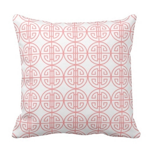 Beautiful Classy Summer Pastel Pink Retro Oriental Pattern Pillow Case (Size: 45x45cm) Free Shipping