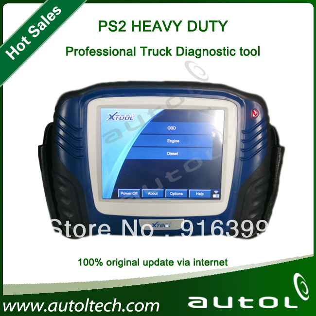 Universal Truck Professional Diagnostic Tool + Touching LED Screen + Wireless Bluetooth + Update Online XTOOL PS2 HEAVY DUTY(China (Mainland))