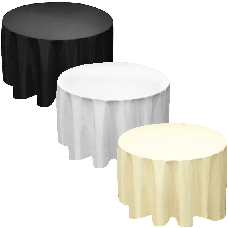 factory suuply 110 round polyester tablecloth table cover