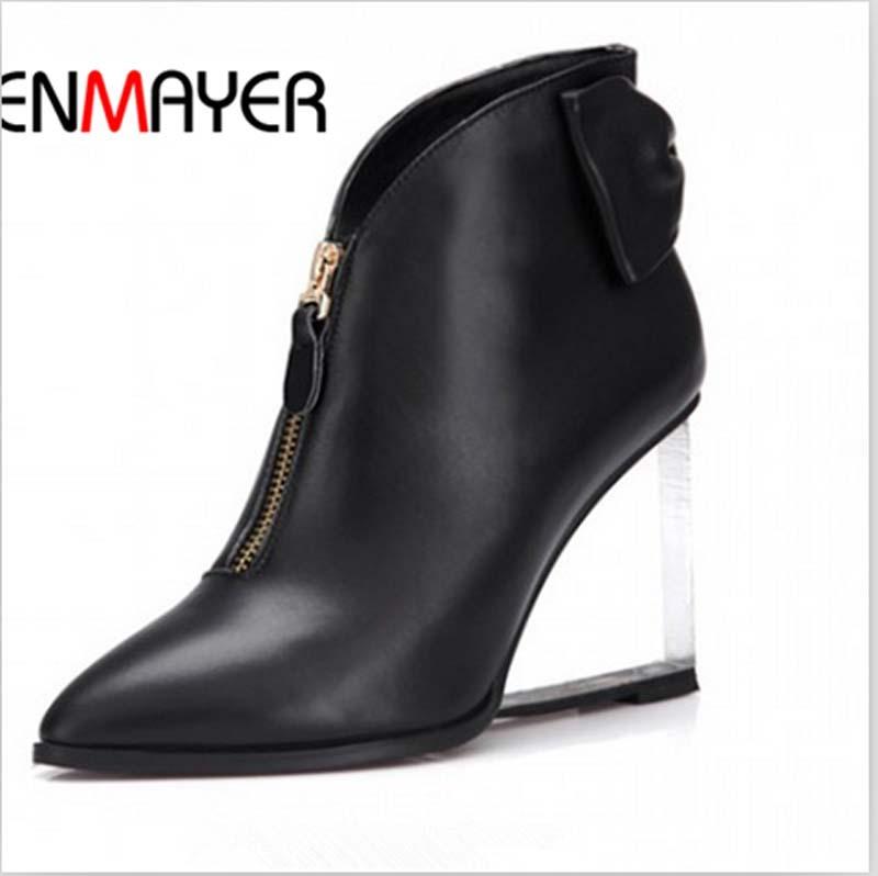 Enmayer hiver bottes en cuir bout pointu fretwork wedges cheville bottes nouv - Laposte mon espace client nouvelle livraison ...