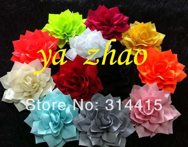 3 fabric hand made  baby, kids hair flower, girls headband accessory, 12colors in stock, 600pcs/lot,  free shipping by EMSОдежда и ак�е��уары<br><br><br>Aliexpress