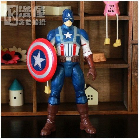 25CM=10'' Captain America Toys Sounding + Flashing Function Captain America Action Figure Marvel Avengers Retailing