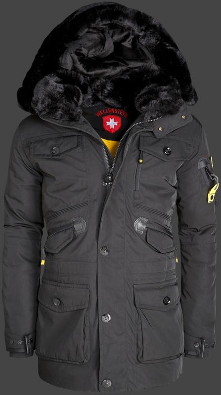 fashion brand designer mens Wellensteyn Falcon Jacket Winter long Parka jacket coat Hooded cotton warm real fur  -  Crise Lin's store store