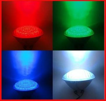 New RGB High quality plastic housing Par56 led underwater swimming pool bulb lamp light+ remote control 558pcs led.free shipping(China (Mainland))