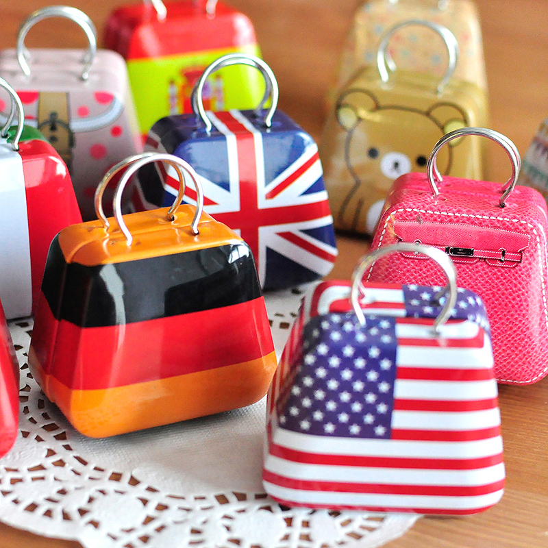 AliExpress.com Product - Free Shipping Various Patterns Tote Shape Zakka Tin Box Candy Box Mini Storage Box Jewelry Box Wholesale