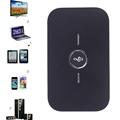 2in1 Bluetooth Transmitter Receiver HIFI Wireless Receiver Portable Audio Player Aux 3 5mm Black Bluetooth Audio