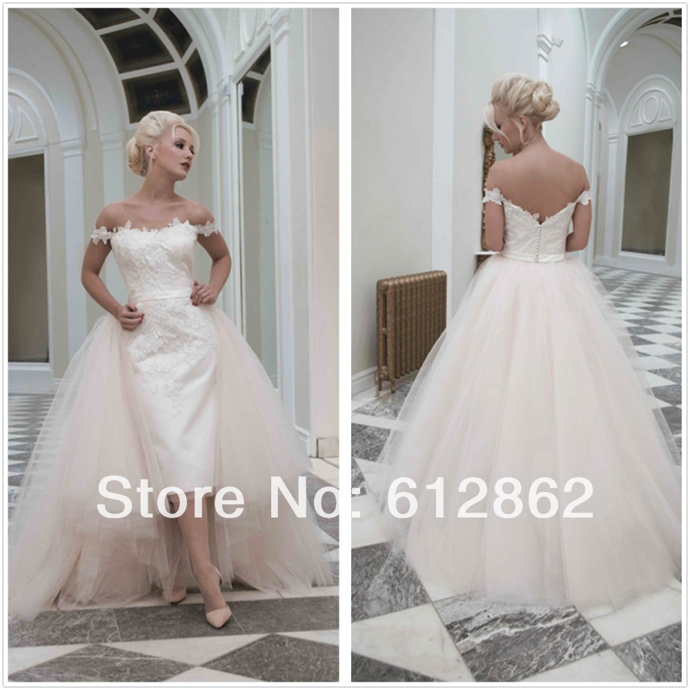 Buy off the shoulder lace and tulle low for Buy back wedding dresses