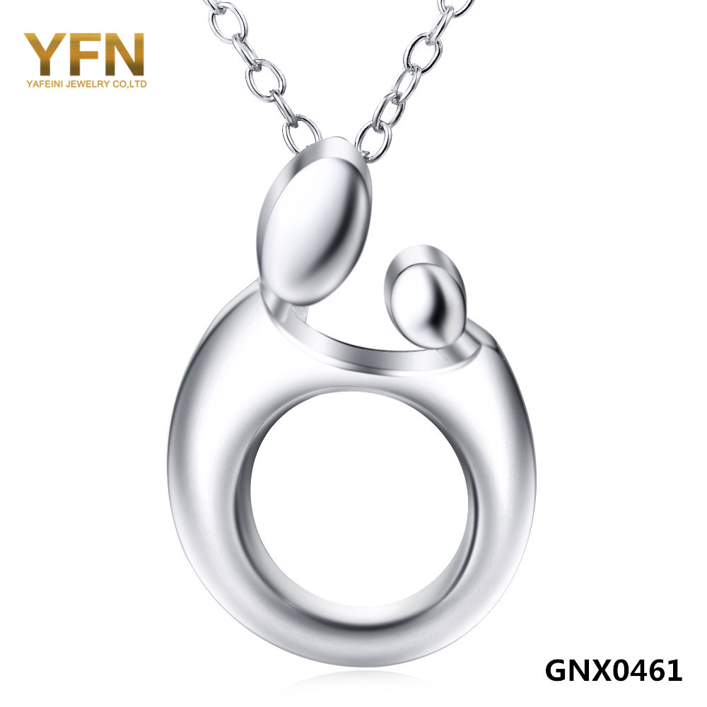 "Mom and Child Love Jewelry Necklace Wholesale 925 Sterling Silver Necklace For Woman Fashion Jewelry ""Love Family"" GNX0461(China (Mainland))"