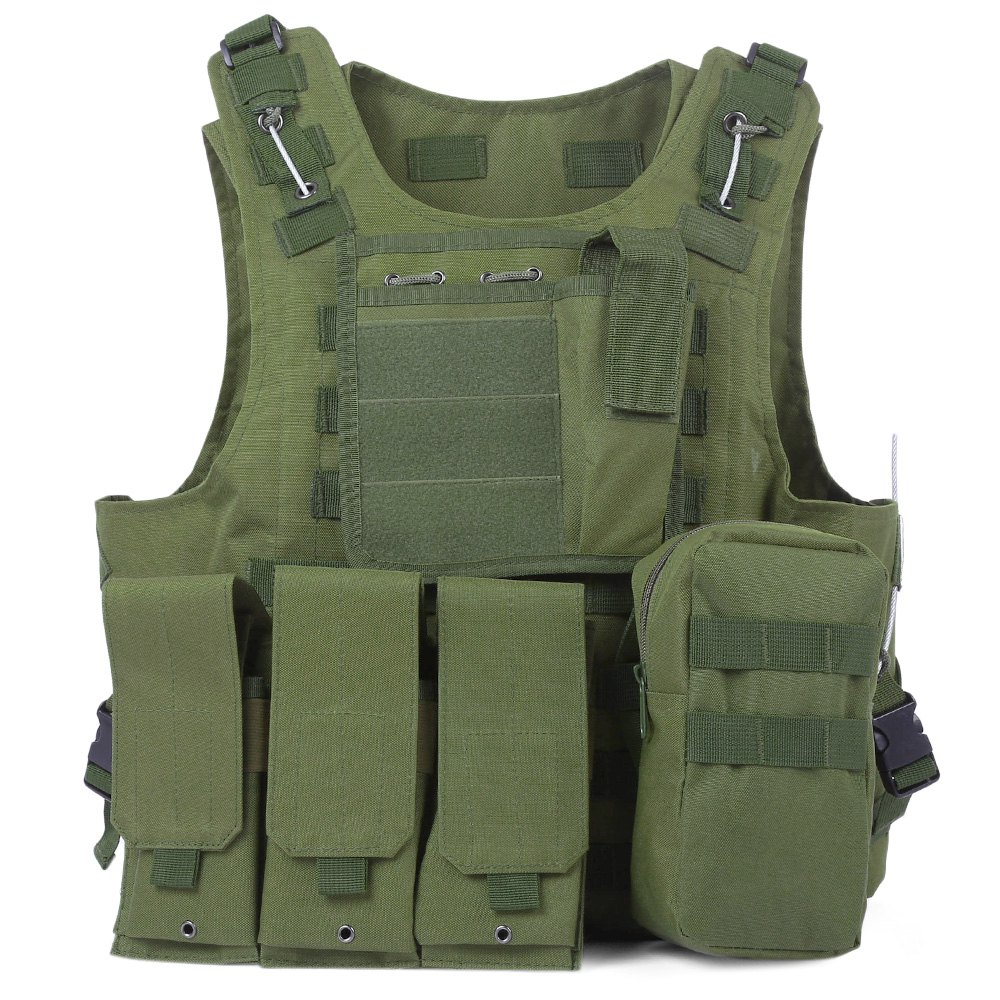 Newest Style Amphibious Tactical Military Molle Waistcoat Combat Assault Plate Carrier Vest Hunting Protection Vest Camouflage