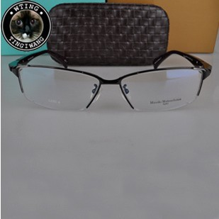 Original genuine brand Masaki handmade eyeglasses fashion man luxury eyewear pure titanium half rim glasses frame - A-Zed Luxury Eyeglasses store