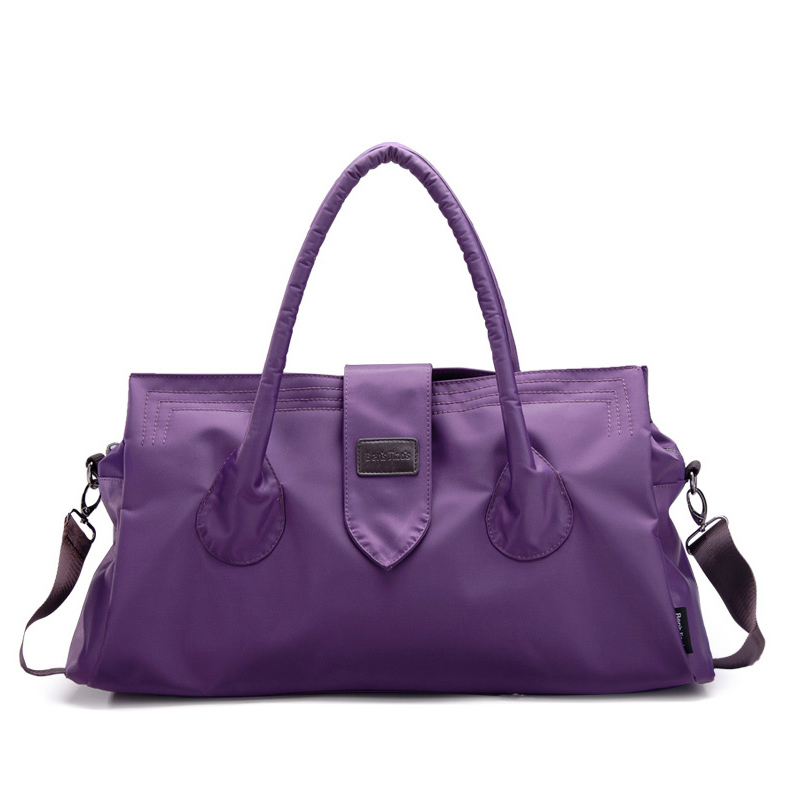 Purple duffle bags women travel shoulder bag large capacity fashion waterproof nylon accessories - SSIT Store store