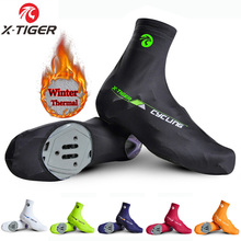 Buy X-TIGER Brand Cycling Shoe Cover Reflective MTB Bicycle Overshoes Winter Thermal Fleece Road Racing Bike Shoes Cover Copriscarpe for $9.99 in AliExpress store