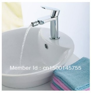 Single Handle Modern Chrome Bathroom Vessel Sink Lavatory Basin Bidet Faucet / Mixer Tap Free Shipping 2809