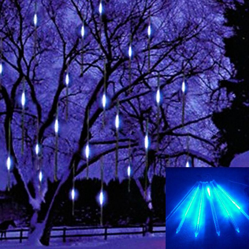 30cm Meteor Shower Rain Tubes Led Light Lamp 100-240V EU US Plug Christmas String Light Wedding Garden Decoration Free Shipping(China (Mainland))