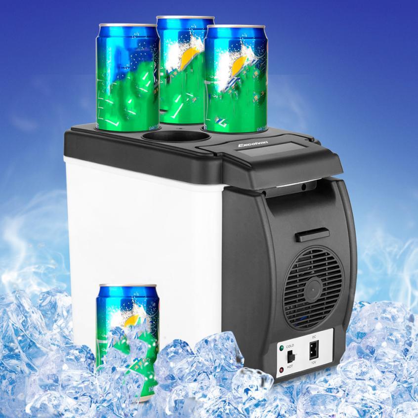 pretty 12V 6L Car Mini Fridge Portable Thermoelectric Cooler Warmer Travel Refrigerator nr28(China (Mainland))