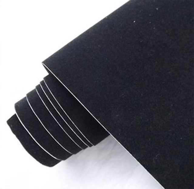 "Real suede fabric material car wrapping velvet vinyl film Automotive Decals sticker 12""*53""/1.35*0.3m"