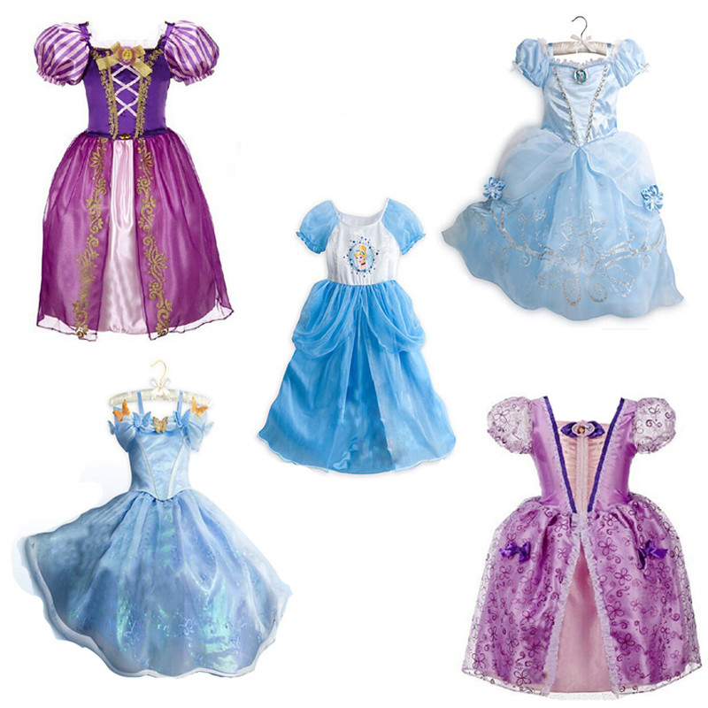 Summer Princees Halloween Cinderella Girl Dress Party Christmas Dress Sofia Princess Child Dresses for Girls Clothes Costume(China (Mainland))