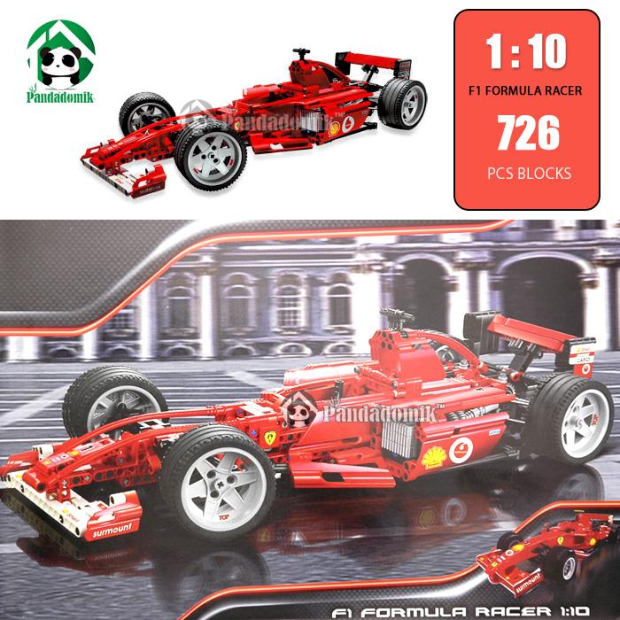Super Large 18.5 inch Building Blocks 726 Pcs Decool 1: 10 F1 Famous Racing Car Scale Models Toys Hobbies Model Building Kits(China (Mainland))
