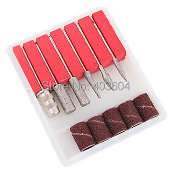 6PCS Nail Art Drill Bits and Sanding Bands Free Shipping
