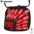 9 Pcs Insulated Screwdriver Set Electrician Dedicated Magnetic Precision CR V High Voltage 1000V Slotted Phillips