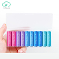 Newest Yunmai 10PCS 7 Dry Battery Colorful AA Batteries For Remote Control Flashlig Alarm Clock With